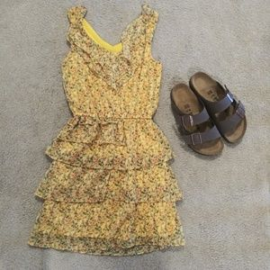🔴5/$25 Yellow Floral Dress - Xhilaration, Size XS